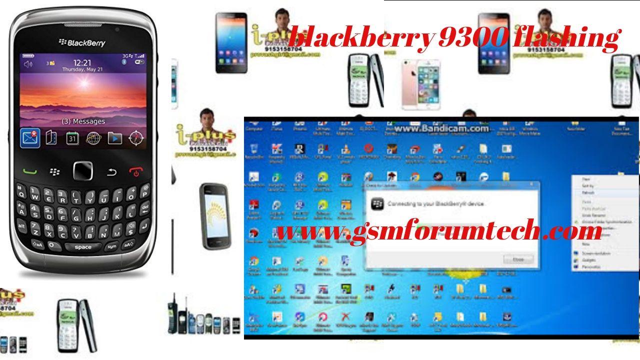 blackberry 9300 flashing