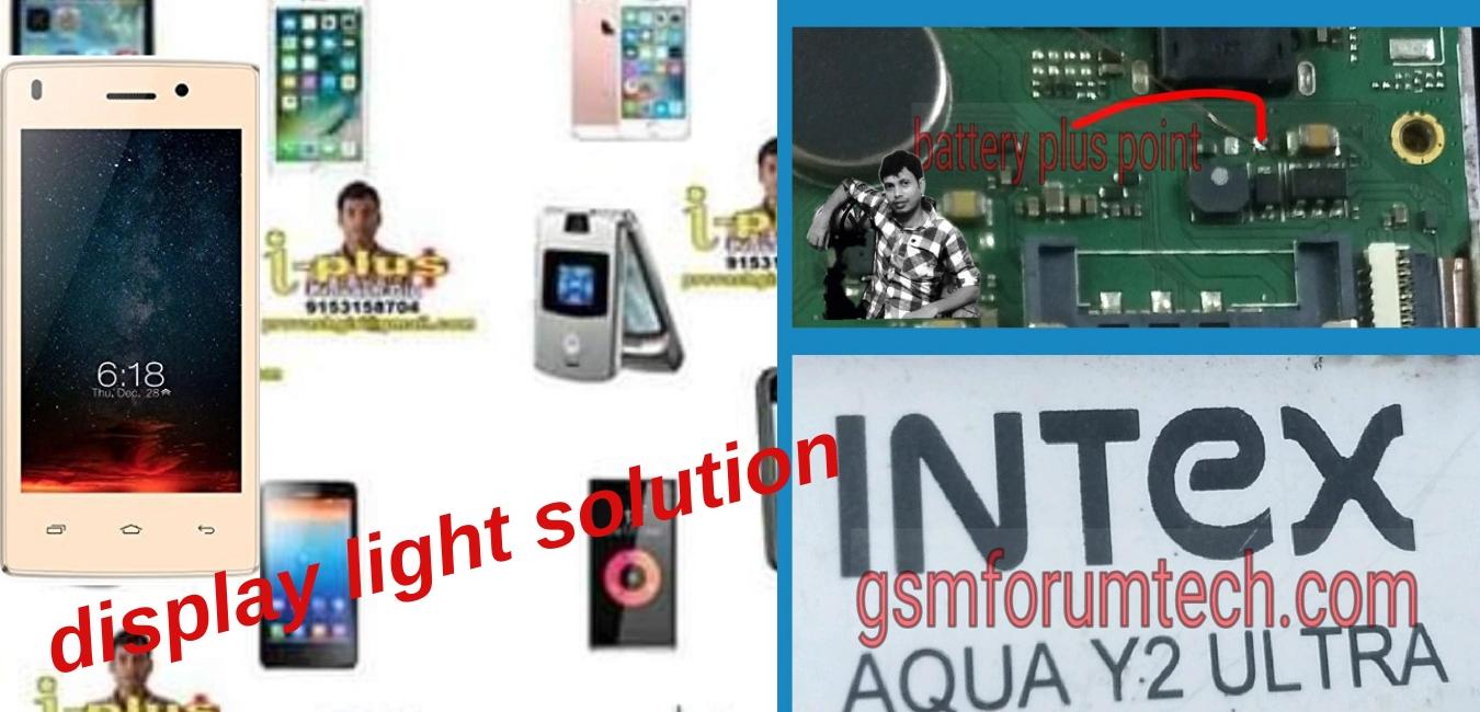intex aqua y2 ultra display light solution