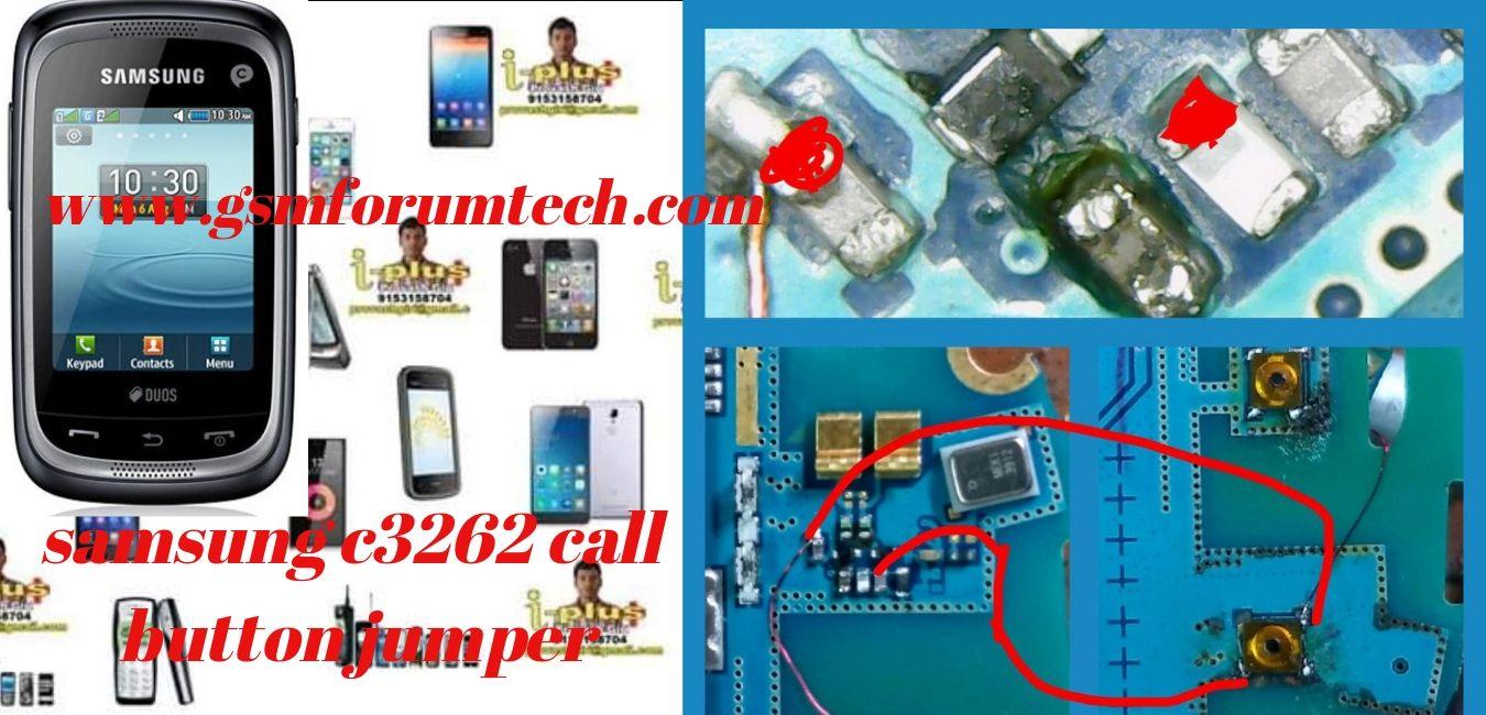 samsung c3262 call button jumper