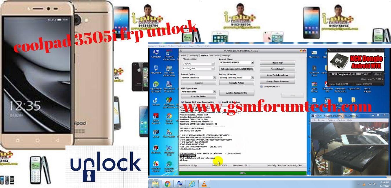 coolpad 3505i frp unlock