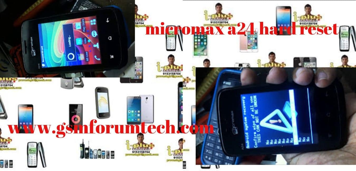 micromax a24 hard reset