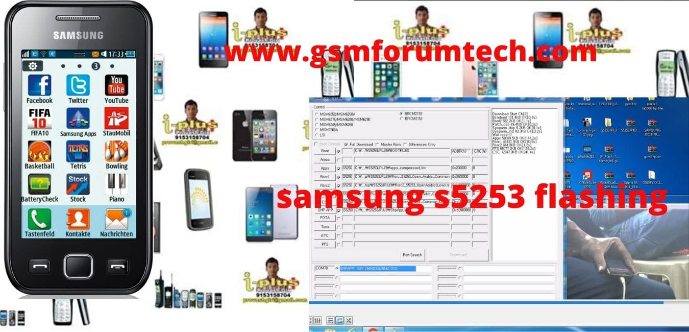 samsung s5253 flashing