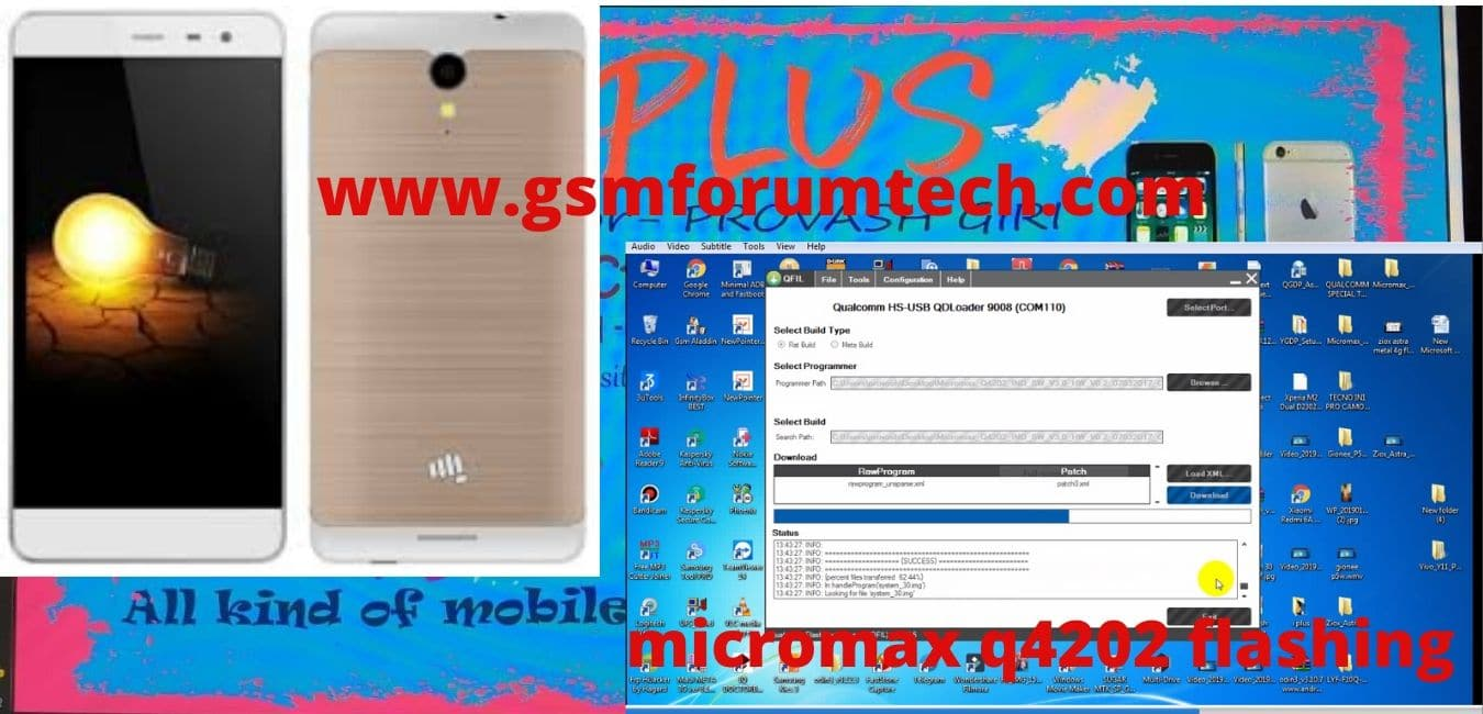micromax q4202 flashing