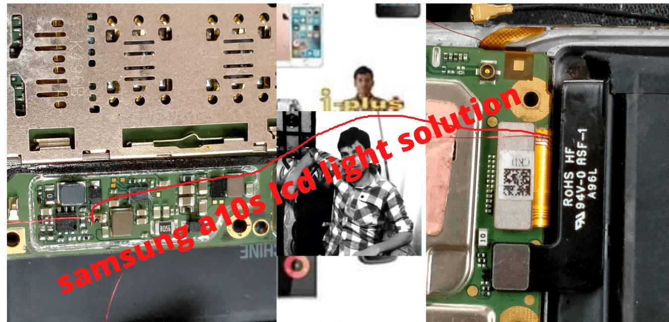 samsung a10s lcd light solution